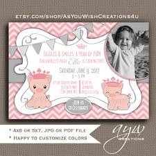 1st birthday princess invitation pig birthday party invitations first birthday pig party