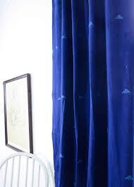 indigo curtains blockprint window curtains naturally dyed ichcha