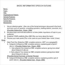 informative essay outline informative speech outline informative essay