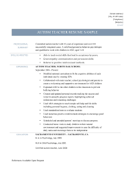 sample of special skills in resume patience skills resume free resume example and writing download autism teachers are encouraged to show their previous experience in working with children with special needs sample resume for experienced