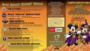 mickeys not so scary halloween party 2017 mickey u0027s not so scary halloween party guide map 2011 photo 1 of 2