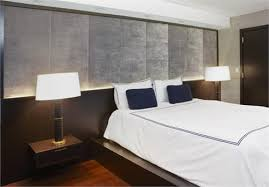 built in bed with upholstered panels from aguirre design inc