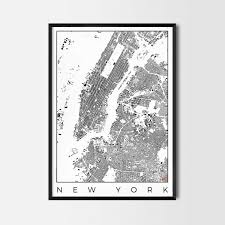 New York Map Us by City Art Posters Map Posters And Art Prints Gifts For City