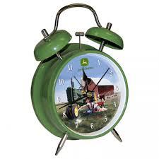 John Deere Kids Room Decor by John Deere Twin Bell Green Alarm Clock Rungreen Com