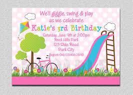 1st Year Baby Birthday Invitation Cards Park Birthday Invitation Park Birthday Party Invitation