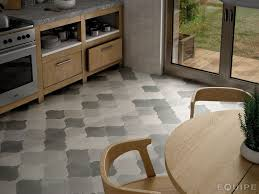 white kitchen tile floor ideas