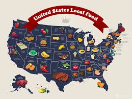 United States Map Delaware by Ltpyl United States Local Food Map Infographic Geography