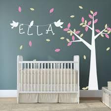 Tree Decal For Nursery Wall by Baby Nursery With Tree Wall Decal And White Crib Baby Nursery