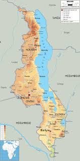 Physical Map Of Africa by Maps Of Malawi Map Library Maps Of The World