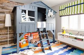 Custom Kids Room by Contemporary Cabin Boys Bedroom With Gray Tree House Bed Country
