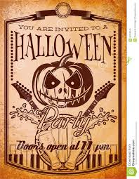 retro grunge poster for halloween party stock vector image 59704343