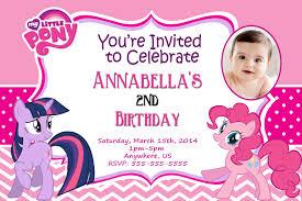 Birthday Invitation Cards Models My Little Pony Birthday Invitations Redwolfblog Com