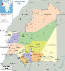 Political Map Of Latin America by Map Of Mauritania Mauritania Pinterest Africa