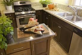 nice stainless steel kitchen island brass pull down kitchen faucet