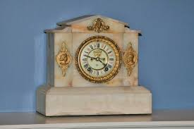 Ansonia Mantel Clock Alabaster Mantel Clock Is Made By Ansonia Around 1895 1837 1901