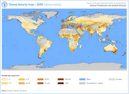 Population Density Map United States by Sheep Density Map 2005 World Maps Pinterest