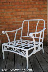 How To Clean Outdoor Patio Furniture by Serenity Now How To Clean And Paint Vintage Metal Patio Furniture