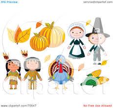 pilgrims on thanksgiving royalty free rf clipart illustration of a thanksgiving digital