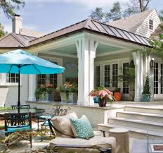 Simple Covered Patio Designs by How To Give A Flat Roof Covered Pergola Some Form With A Beautiful