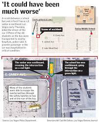 North Las Vegas Map by 1 Dead 16 Hurt In Bus Car Crash In Northeast Las Vegas