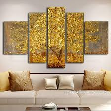 abstract home decor handpainted golden silver abstract knife canvas paintingn wall art