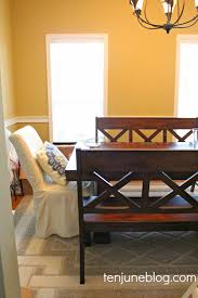 ten june why hello new dining room benches