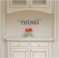 amazon com in everything give thanks vinyl wall decal home kitchen