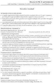 Sample Resume For Senior Manager by Resume For An Executive Assistant Susan Ireland Resumes