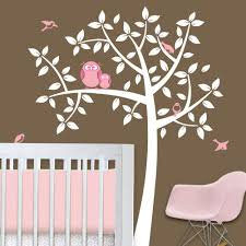 Tree Decal For Nursery Wall by Owl Tree Baby Owl Nursery Theme Nursery Wall Decals