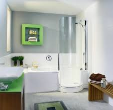 Pictures Of Small Bathrooms With Tub And Shower Tiny Bathroom With Corner Square Glass Shower Stall Amidug Com