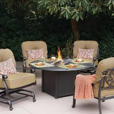 Deep Seat Patio Chair Cushions Patio Ideas Round Patio Table With Fire Pit Ides And Deep Seat