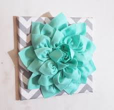 large mint green flower wall hanging flower wall decor by bedbuggs