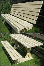 Building Plans For Picnic Table Bench by Folding Picnic Table To Bench Seat Free Plans How Awesome Is