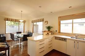 kitchen custom l shaped base kitchen cabinet design with cream