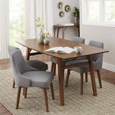 Mid Century Modern Dining Room Tables Dining Room Mid Century Dining Table With White Ceramic Floor And