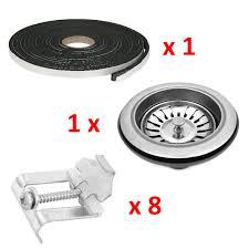 ENKI Single Double  Bowl Reversible Stainless Steel Kitchen - Kitchen sink plumbing kit