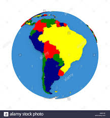 Political Map Of South America 3d Map Of Latin America Stock Image Image 13549741 Realistic