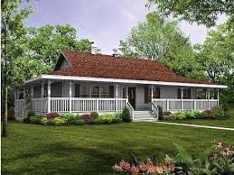 Single Story Houses Rap All The Way Around Porch Single Story Farm House My Dream