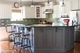 white kitchen cabinets with different color island 143 luxury painted kitchen cabinet ideas and kitchen makeover reveal the
