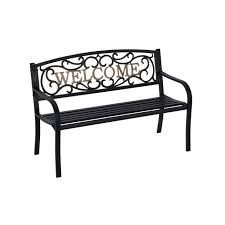 Patio Accents by Amazon Com Ip Sv679f Steel Park Bench Outdoor Benches Patio
