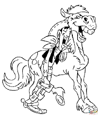 lucky luke coloring pages free coloring pages