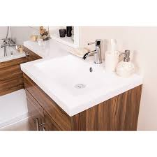 Bathroom Combined Vanity Units by Feel Curved Bathroom Suite With Rh Walnut Combi Vanity Unit