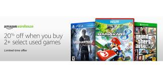 amazon black friday games calendar daily deals 20 off amazon used games akracing u0027s best gaming