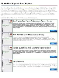 uneb uce physics past papers student assessment and evaluation