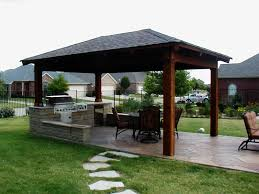 Simple Covered Patio Designs by Modern Outdoor Kitchen Collection With Picture Style Home Design
