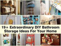 Diy Ideas For Bathroom by Great Ideas For Bathroom Storage On House Decor Concept With 12