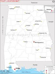 Blank State Map Of Usa by Where Is Foley Located In Alabama Usa