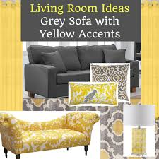 Living Room Design Ideas With Grey Sofa Grey Sofa Living Room With Yellow Accents Home Decor Muse