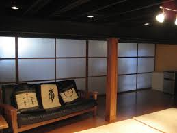 Black Ceiling Basement by Basement Open Ceiling Painted Black With Pendant Lighting Get
