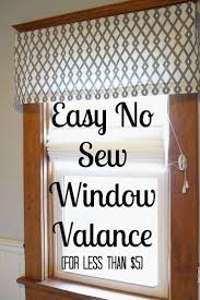 easy diy no sew window valance valance super easy and window